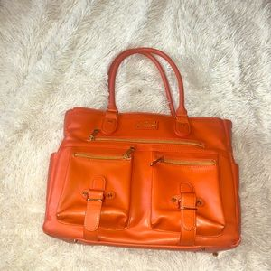 Hard to find orange six pack cooler purse